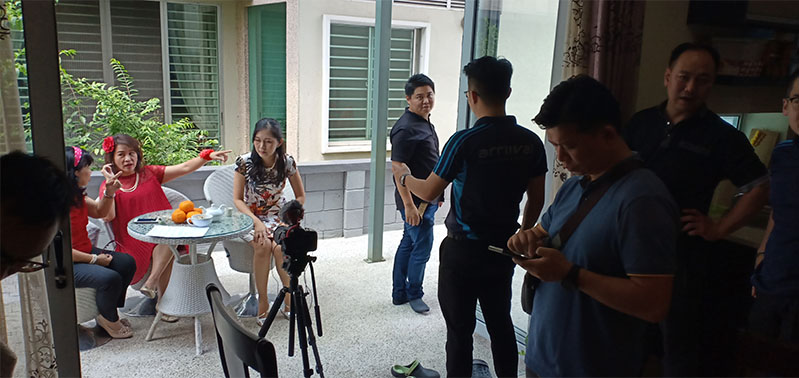 CNY video shooting