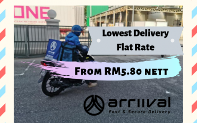 Enjoy Delivery Flat Rate As Lower As RM5.80!!
