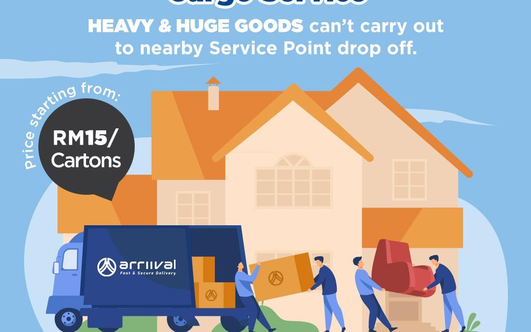 CARGO SERVICE – Door 2 door pick up available